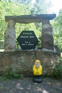 Captain Ahab of Ahab's Adventures at the enterance to Columcille Megalith Park in Pennsylvania 2015