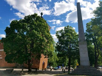 Captain Ahab of Ahab's Adventures walking around Uppsala Sweden 2016