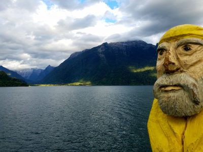 Captain Ahab of Ahab's Adventures enjoying the Fjords of Parque Pumalin Chile 2017
