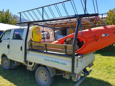 Captain Ahab of Ahab's Adventures getting ready for paddlebaord Futaleufu Chile 2017