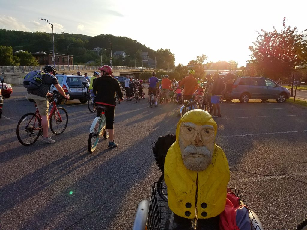 Captain Ahab of Ahab's Adventures enjoying the Downtown Bike Around in North Adams, MA 2017