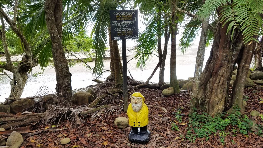 Captain Ahab of Ahab's Adventures exploring Marino Ballena in Costa Rica 2018