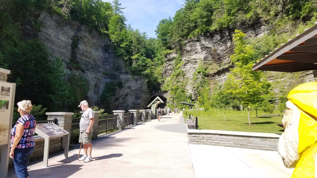 Captain Ahab of Ahab's Adventures admiring Watkins Glen State Park New York 2019