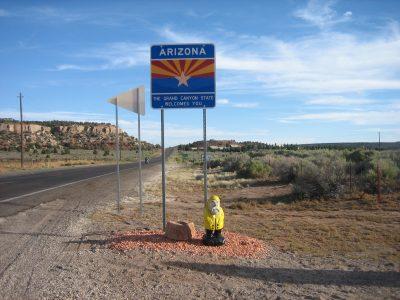 Captain Ahab of Ahab's Adventures entering Arizona 2009